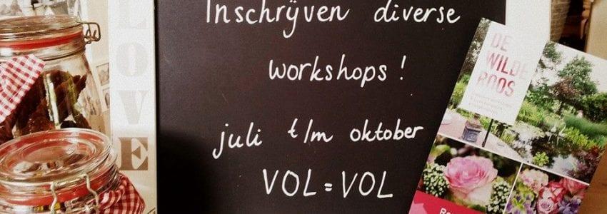 Schrijf je op de Rozenfair in voor verschillende workshops!